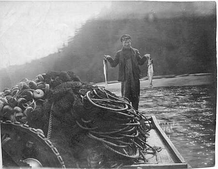 Knute holding two fish